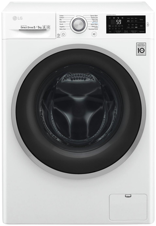 LG F4J6TM1W 8KG / 5KG 1400 Spin Washer Dryer - White