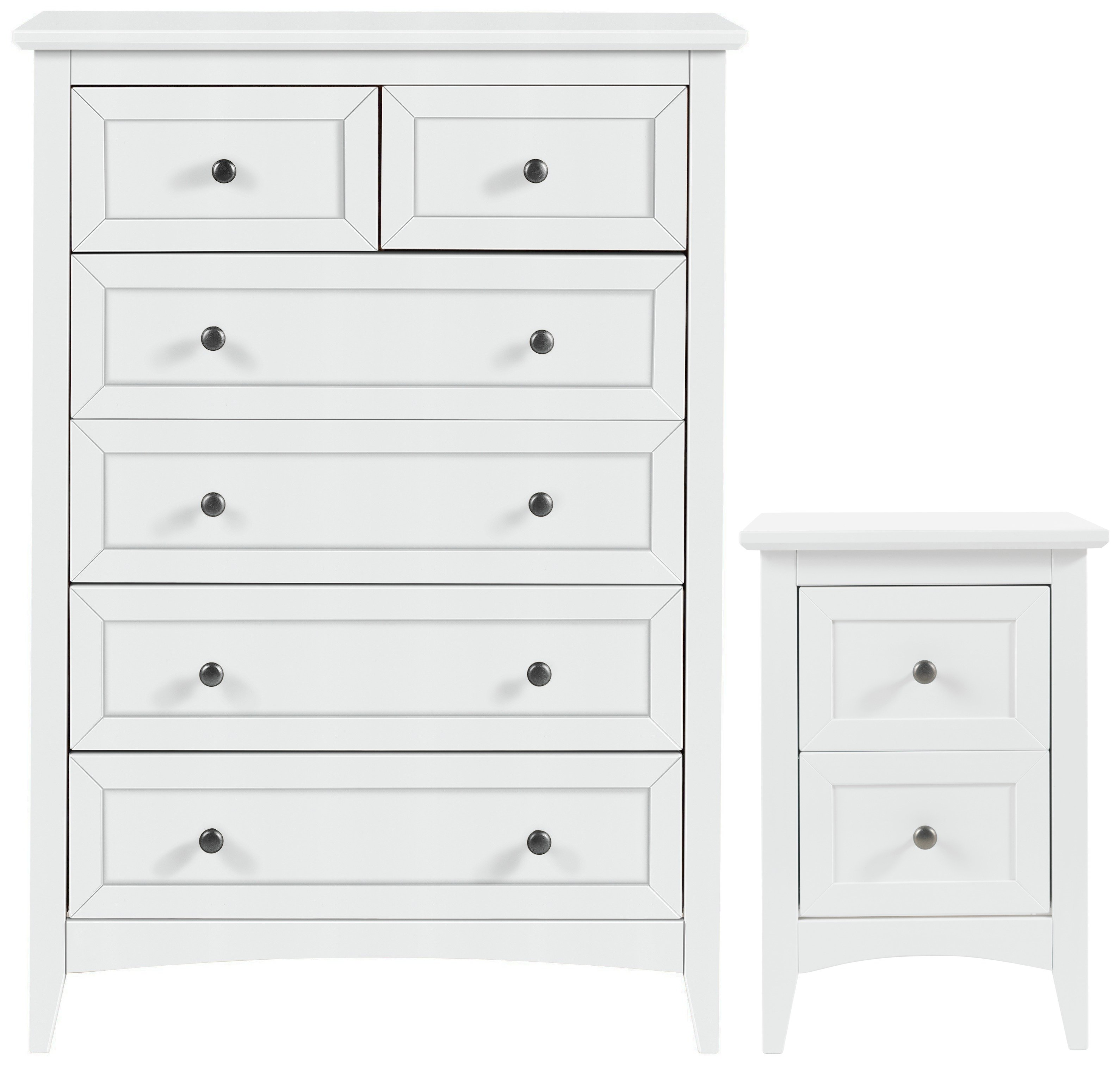 Image of Collection Camborne Bedside & 4+2 Drawer Package - White