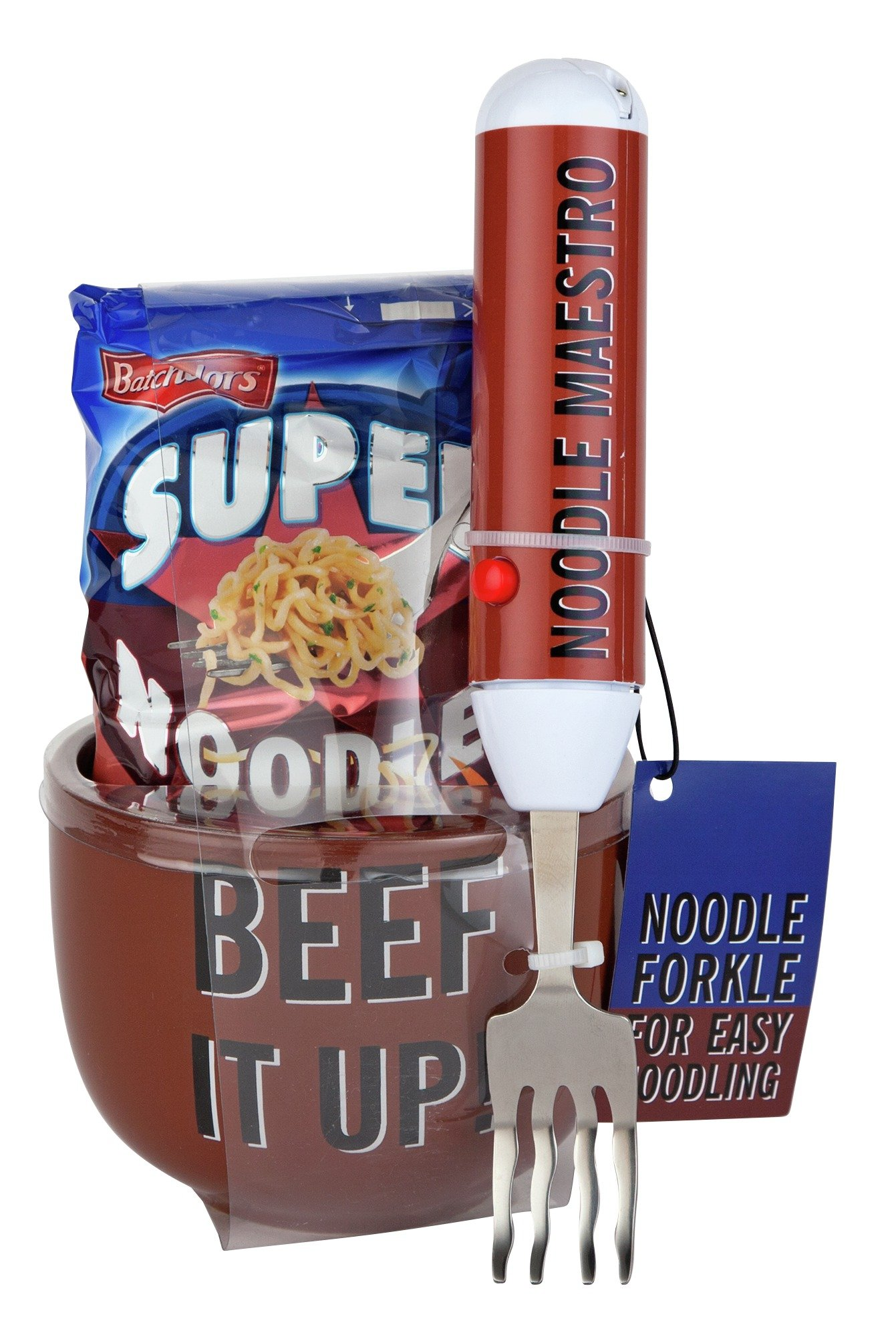 Image of Batchelors Beef It Up Super Noodles With Fork