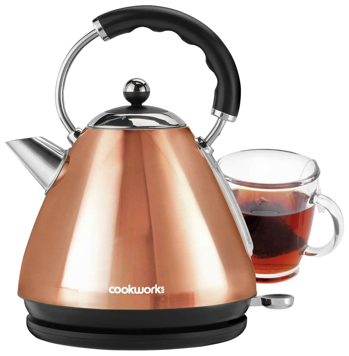 Image of Cookworks Pyramid Kettle - Copper