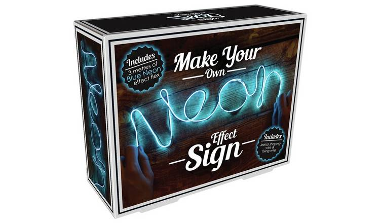Buy Make Your Own Neon Effect Sign Blue Novelty Lights Argos