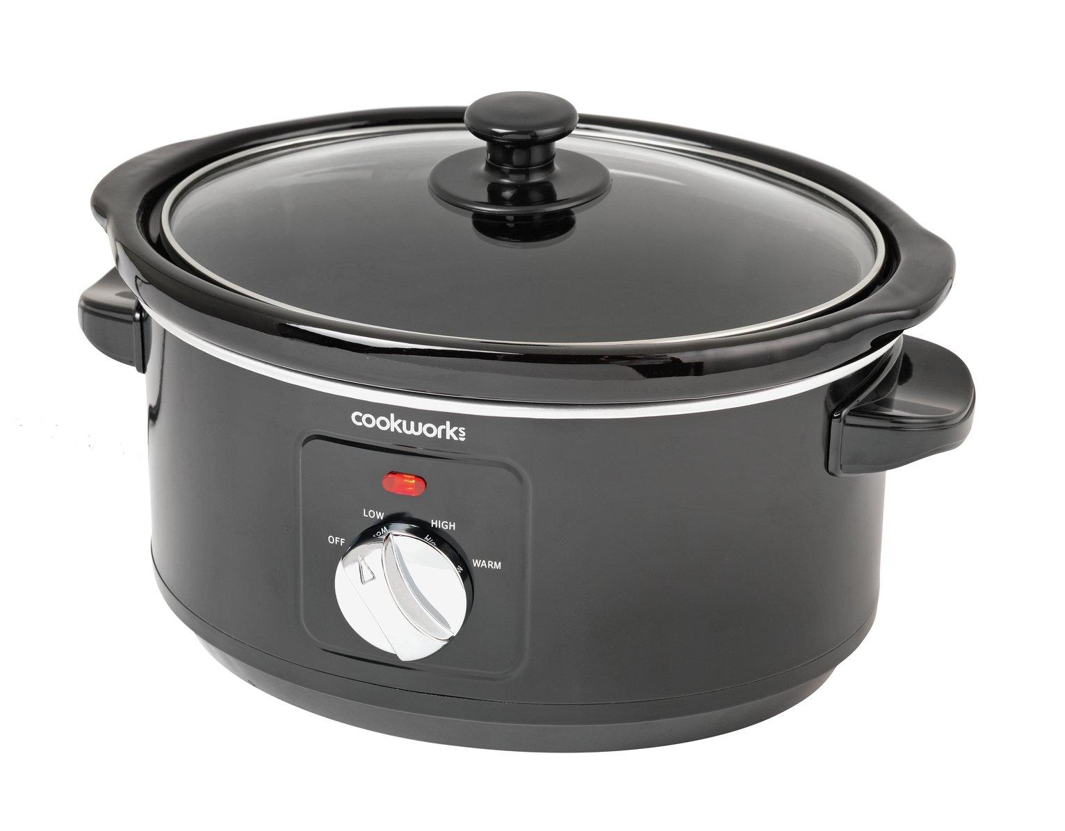 Image of Cookworks 3.5L Slow Cooker - Black