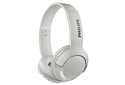 Philips SHB3075 Wireless On-Ear Headphones - White.