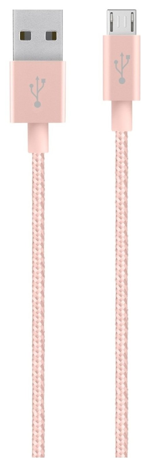 Image of Belkin - MIXIT Metallic Micro USB to USB 12m Cable- Rose Gold