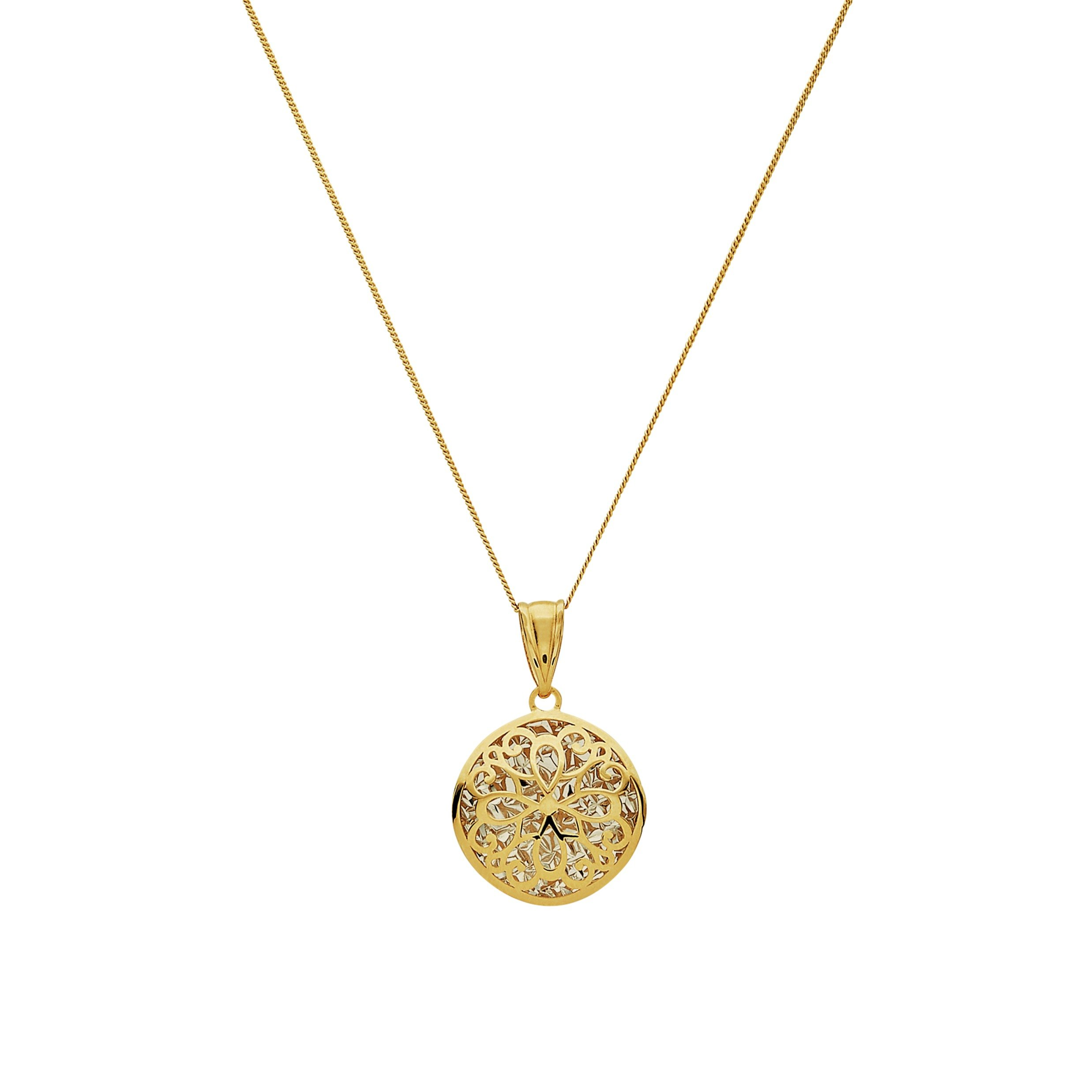 Image of Revere 9ct Gold Small Fancy Cut Out Pendant