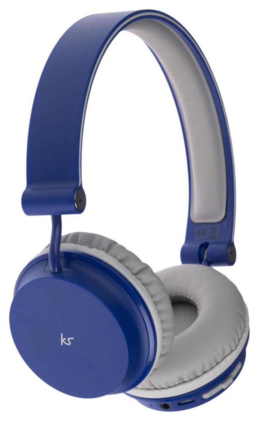 KitSound Metro Wireless On-Ear Headphones - Blue