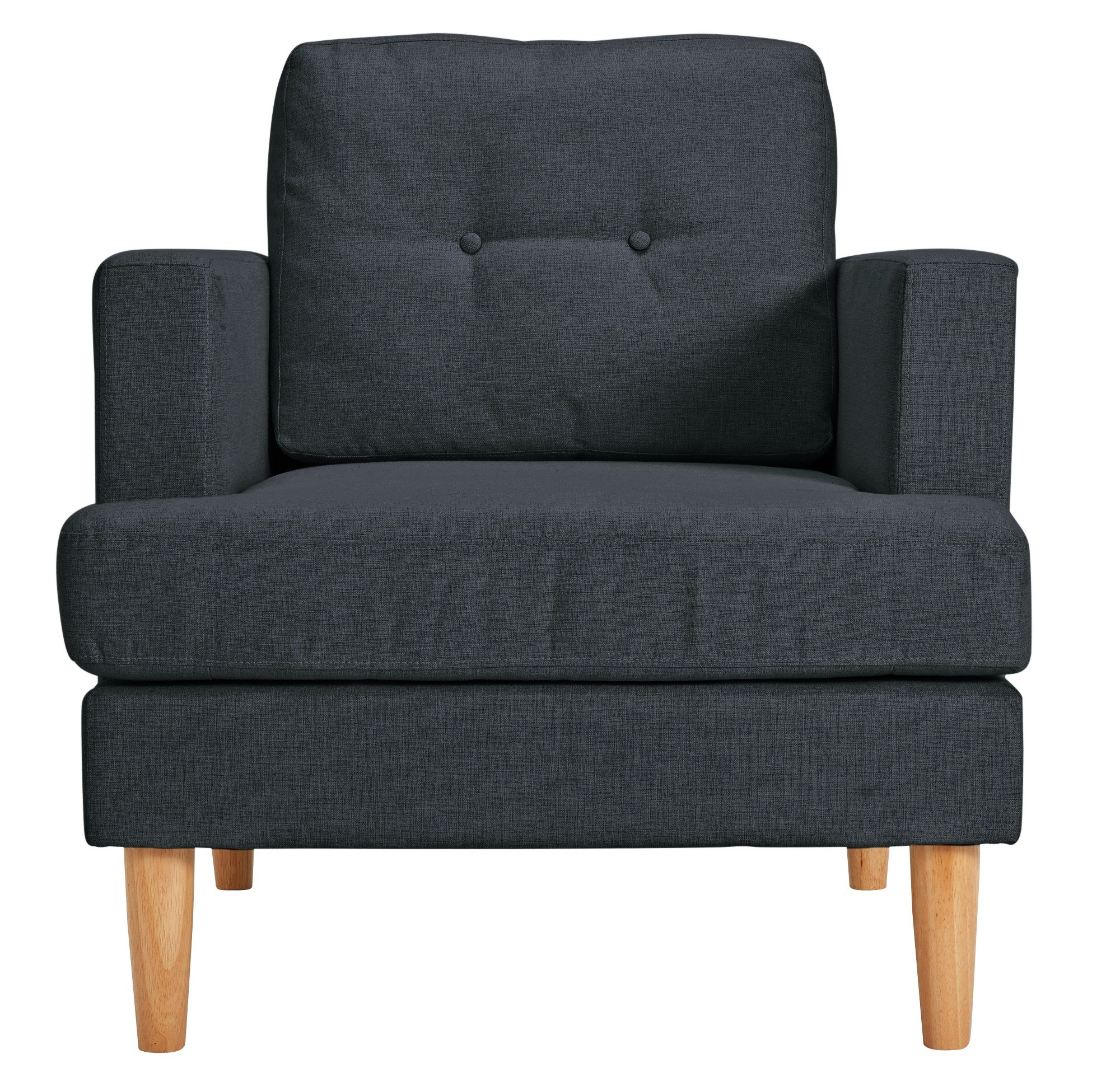 Argos Home Joshua Fabric Armchair - Charcoal