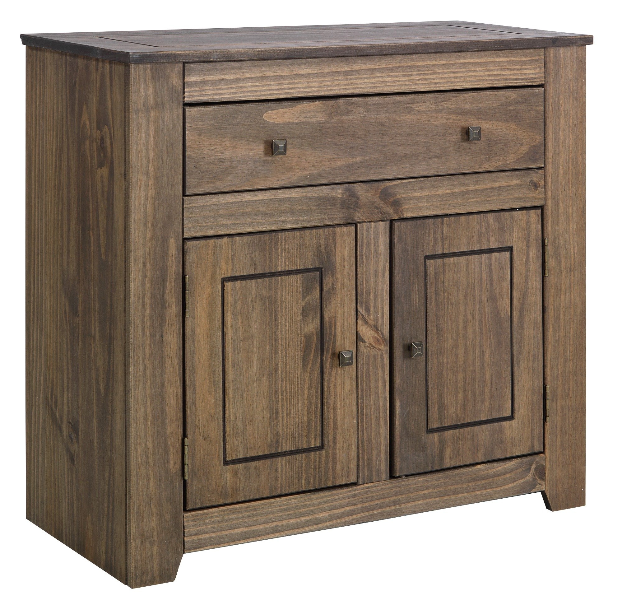 HOME Amersham Small Solid Wood Sideboard - Dark Pine