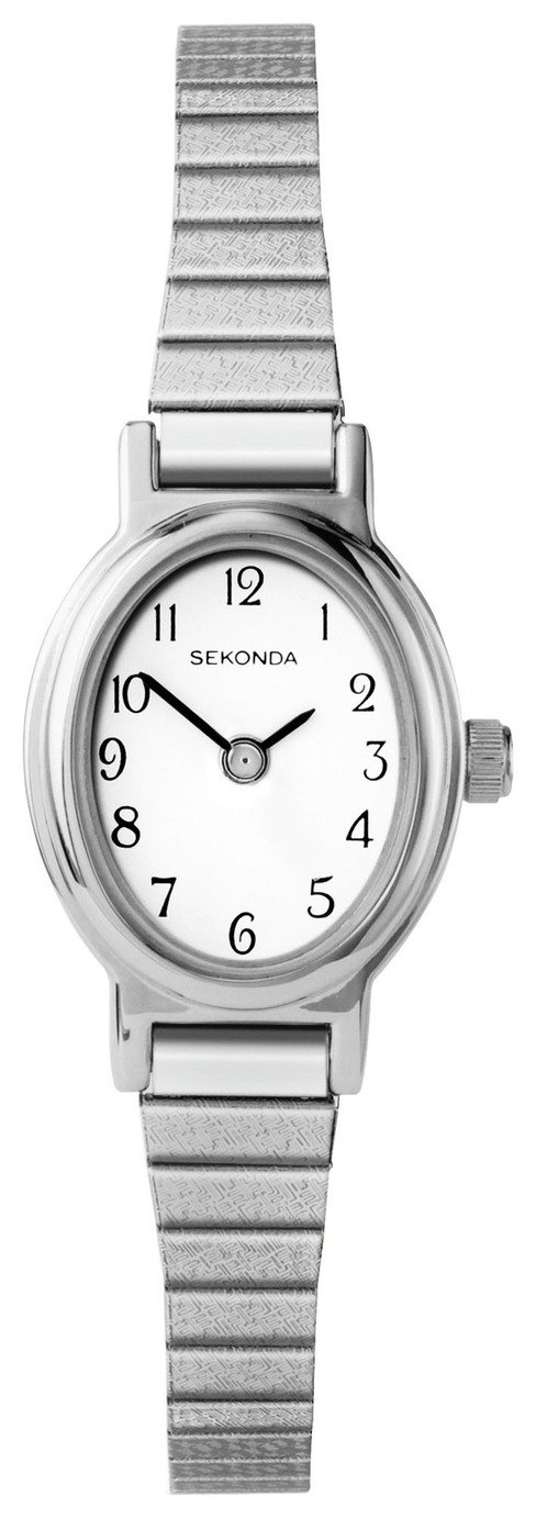 Sekonda Ladies' Silver Colour Expander Bracelet Watch