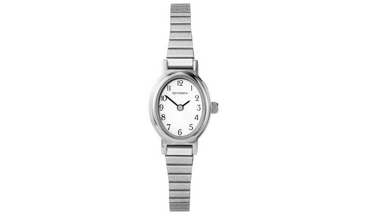 Sekonda Ladies Silver Colour Expander Bracelet Watch
