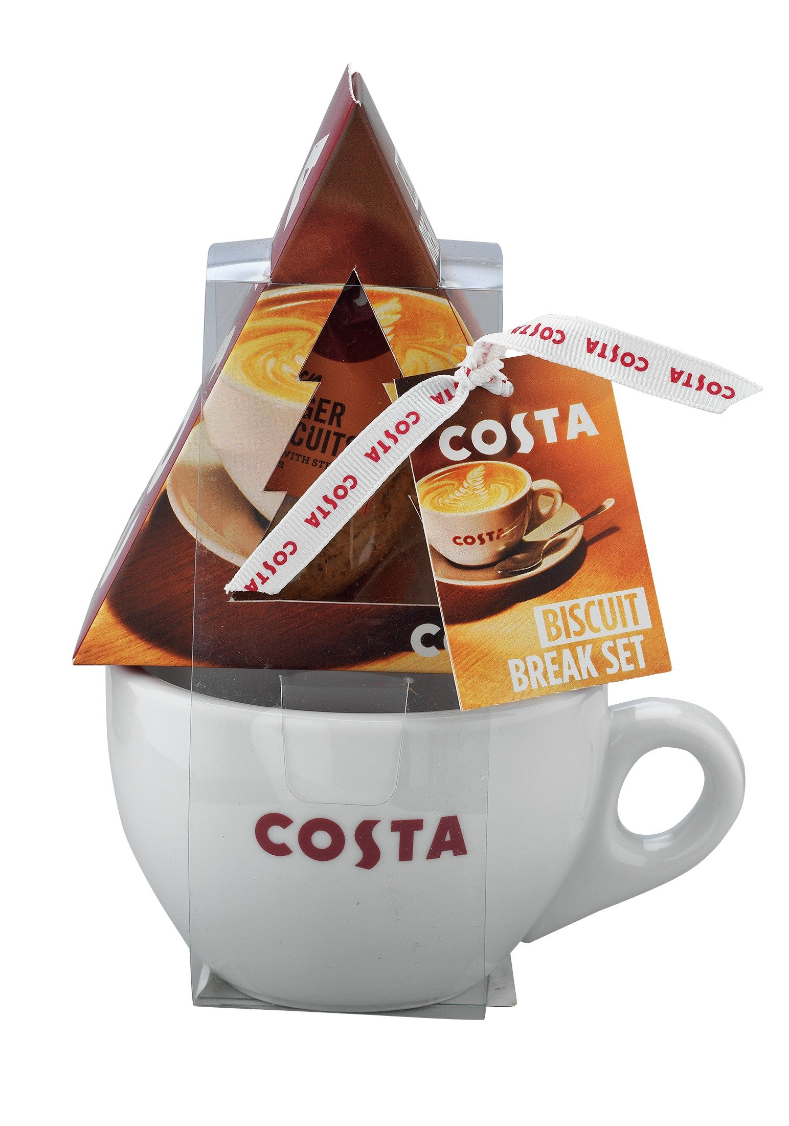 Image of Costa Festive Mug and Biscuit Set.