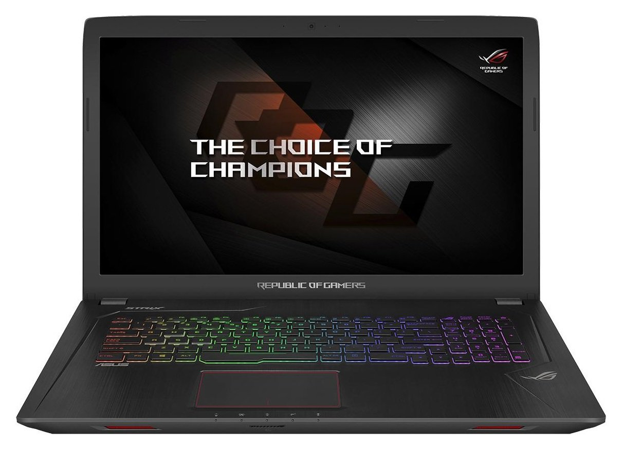 Image of ASUS i5 17.3 In 16GB 128GB 1TB GTX1050 Gaming Laptop - Black