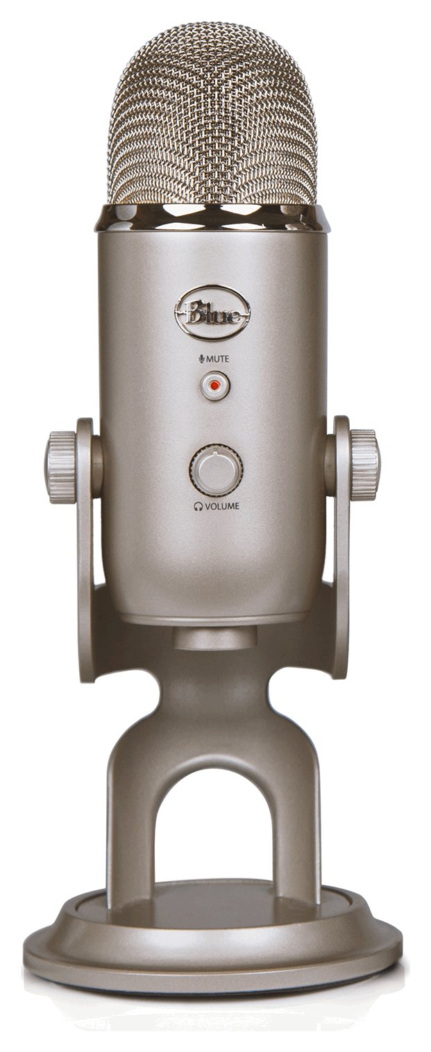 Image of Blue Microphones Yeti USB Microphone - Platinum.