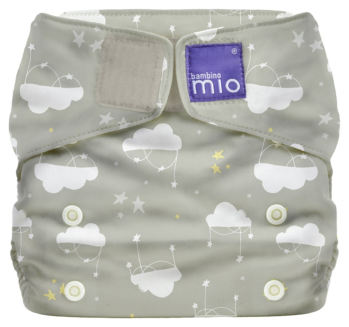 Image of Bambino Mio Miosolo All-In-One Reusable Nappy - Cloud Nine