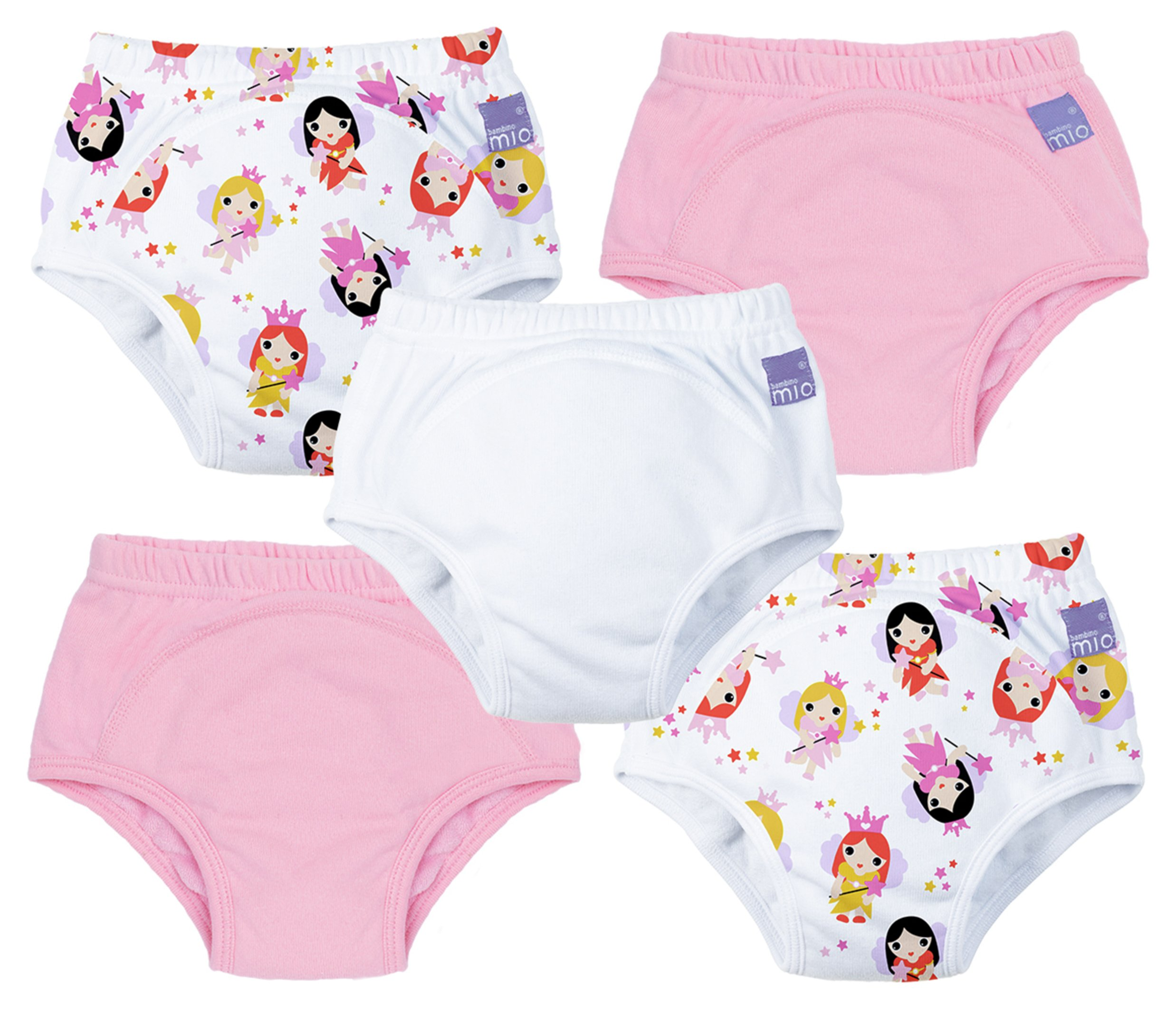 Image of Bambino Mio Fairy Potty Training Pants for 2-3 Years 5 Pack