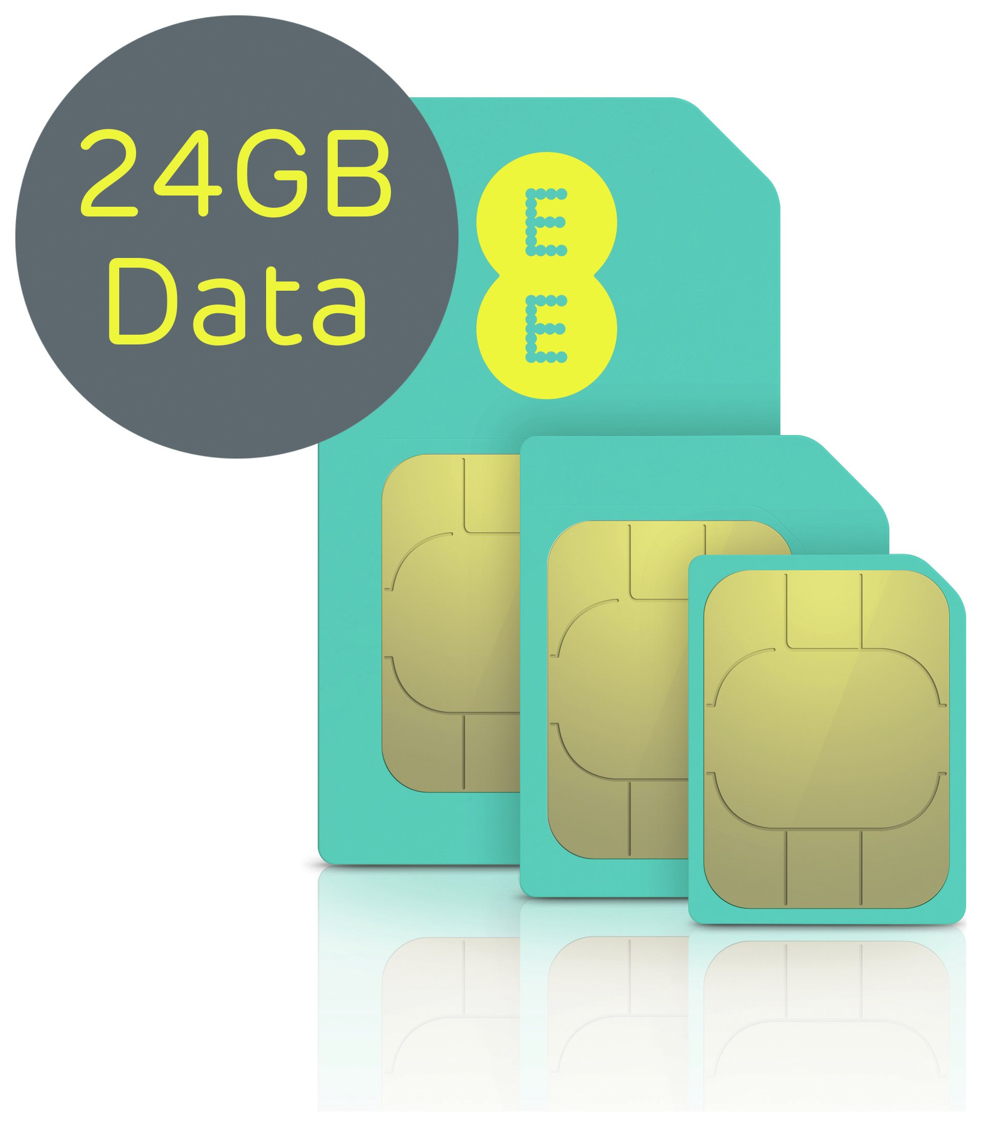Image of EE 4G 24GB Pay As You Go Mobile Broadband Sim Card.