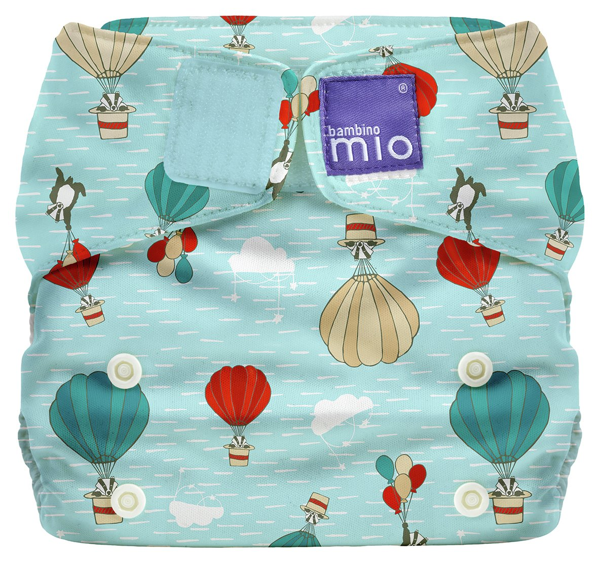 Image of Bambino Mio Miosolo All-In-One Reusable Nappy - Sky Ride