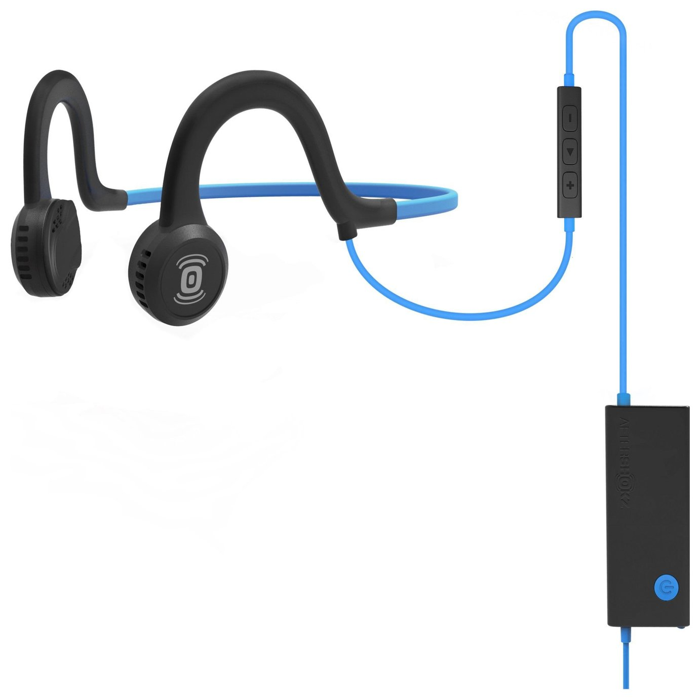 Image of Aftershokz Sportz In-Ear Sports Headphones with Mic - Blue.