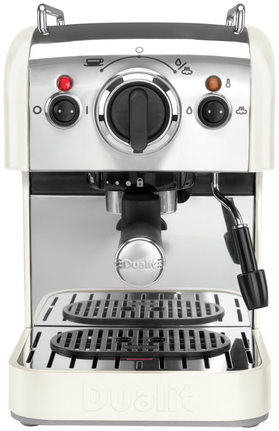 Image of Dualit 3 in 1 Coffee Machine - Canvas White.