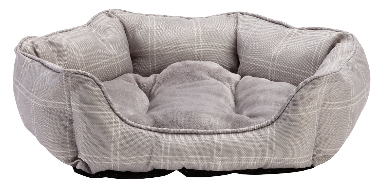 Country Check Oval Pet Bed - Small