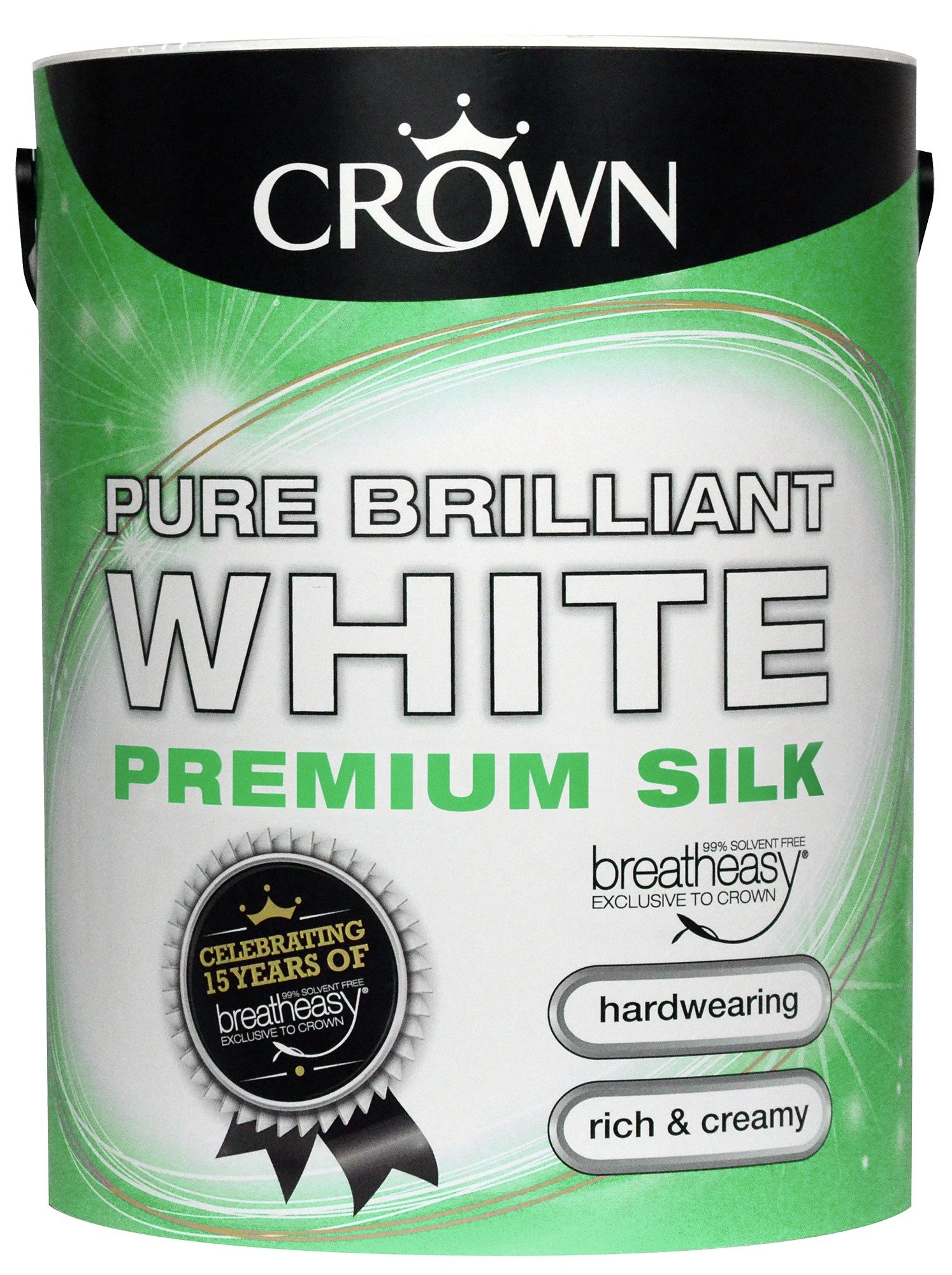 Image of Crown Silk Emulsion Paint 5L - Pure Brilliant White