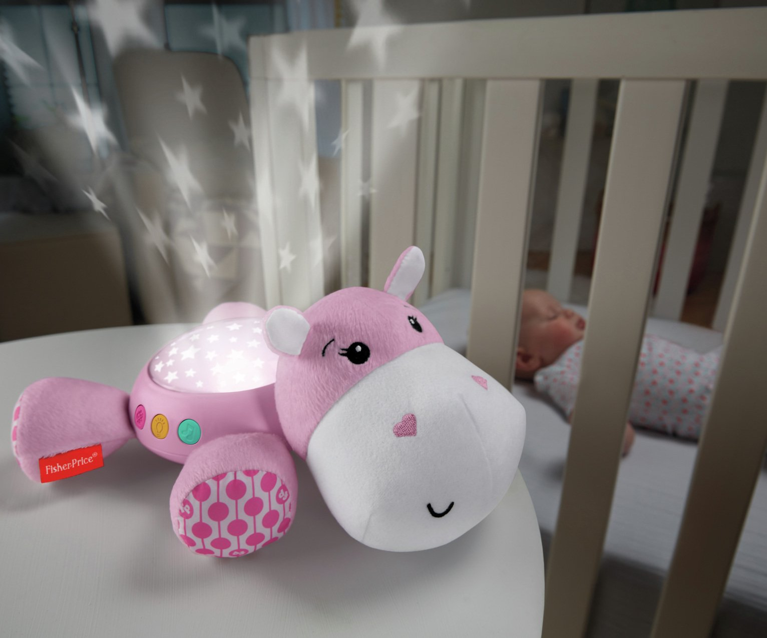 Fisher-Price Hippo Projection Soother Pink
