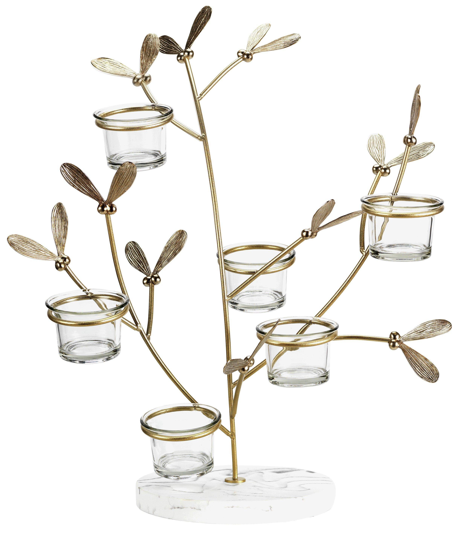 Sainsbury`s Home Large Mistletoe Tea Light Tree - Multi