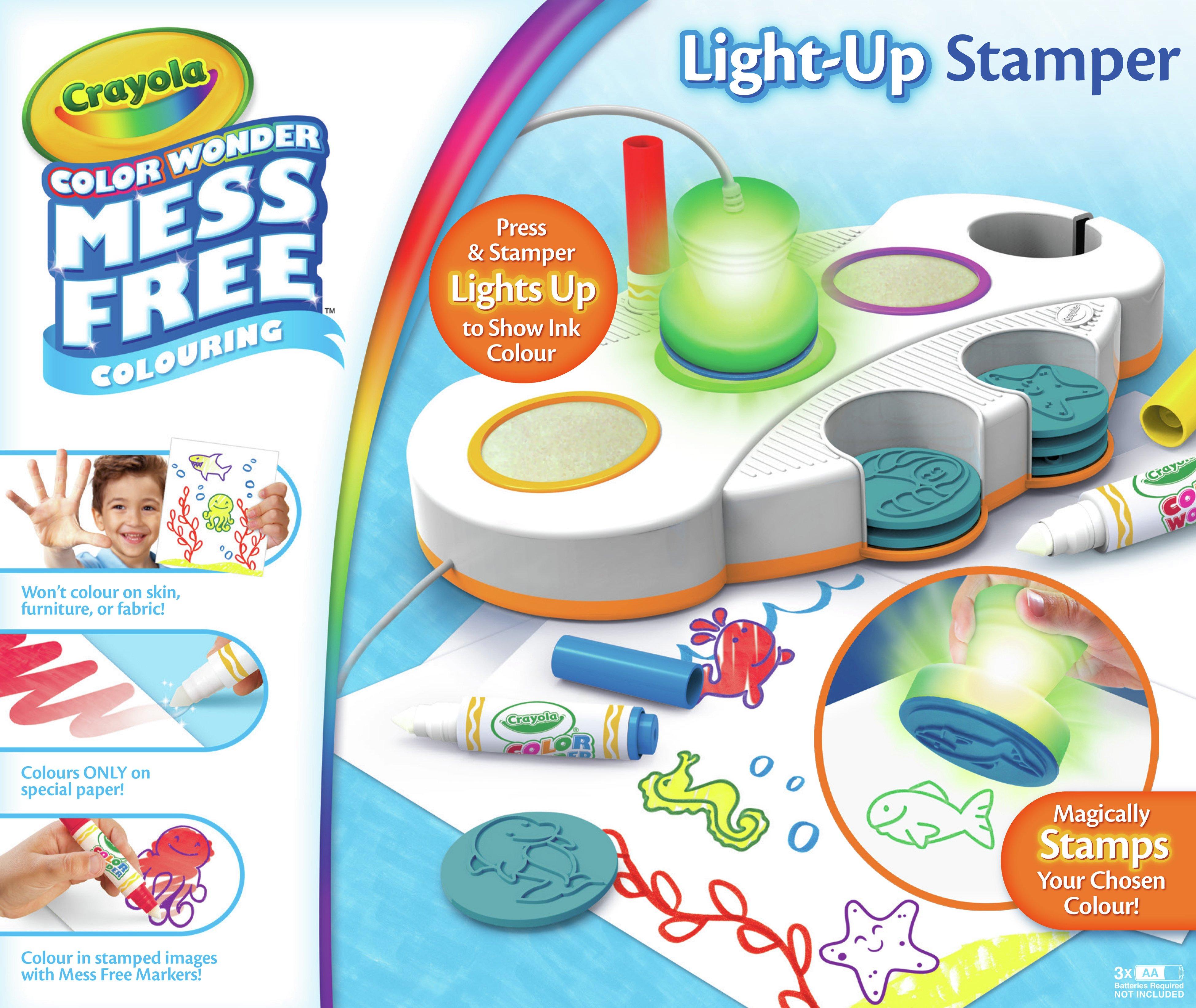 Image of Crayola Colour Wonder Light Up Stamper