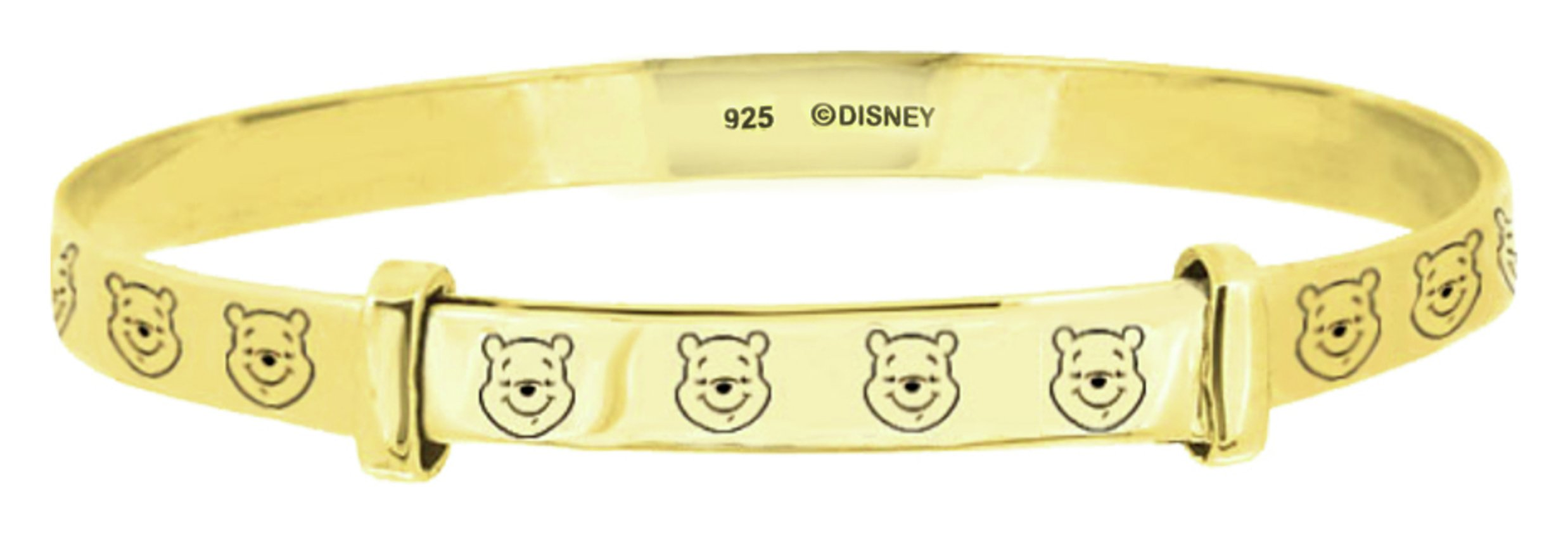 Disney 9ct Gold Plated Winnie the Pooh Bangle - 0-18 Months