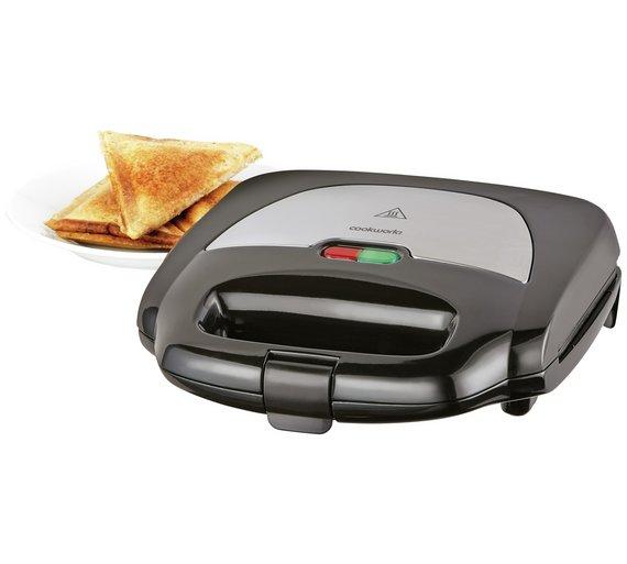 buy cookworks 2 portion sandwich toaster black sandwich toasters