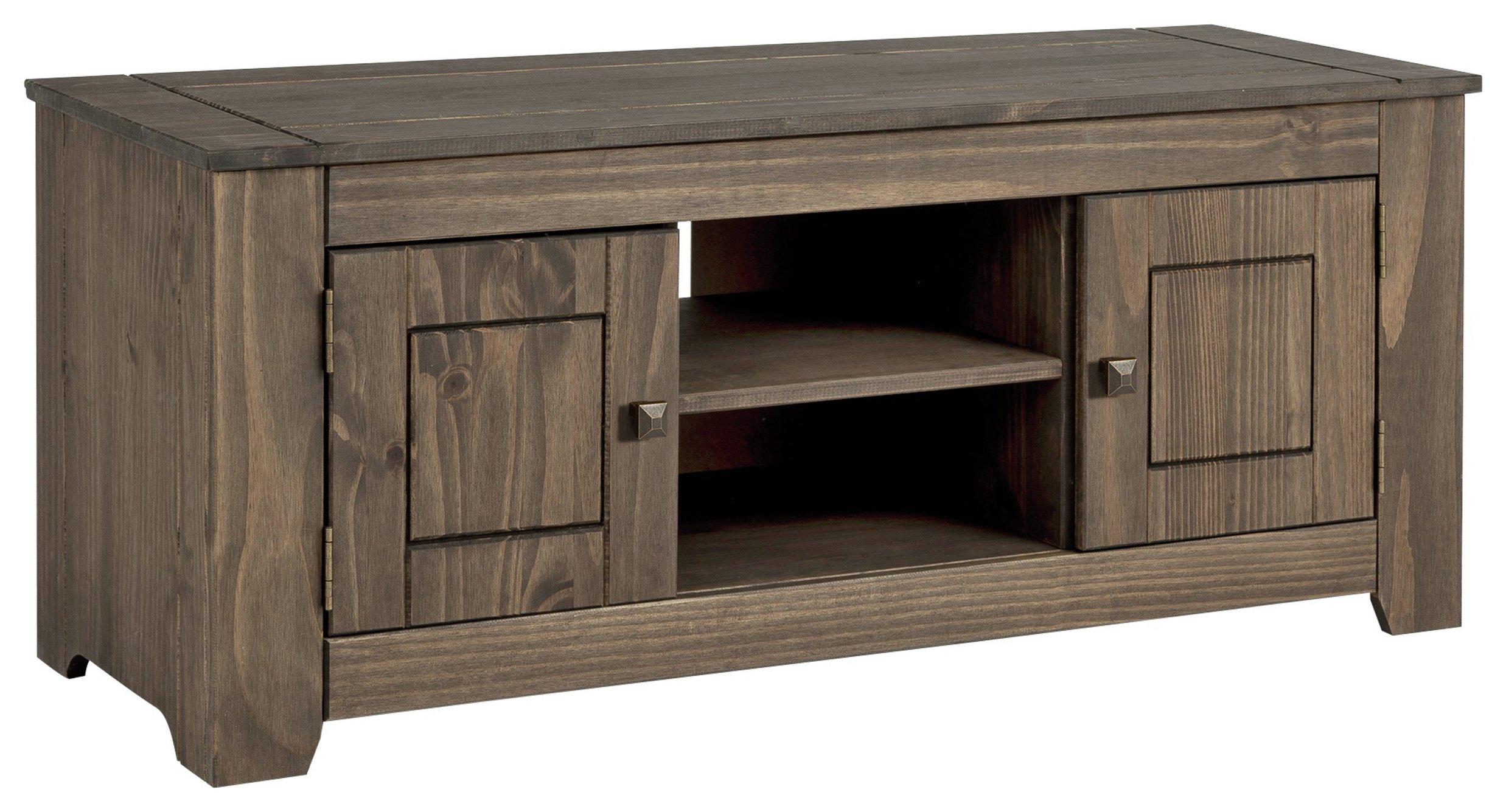 Argos Home Amersham Large Solid Wood TV Unit - Dark Pine