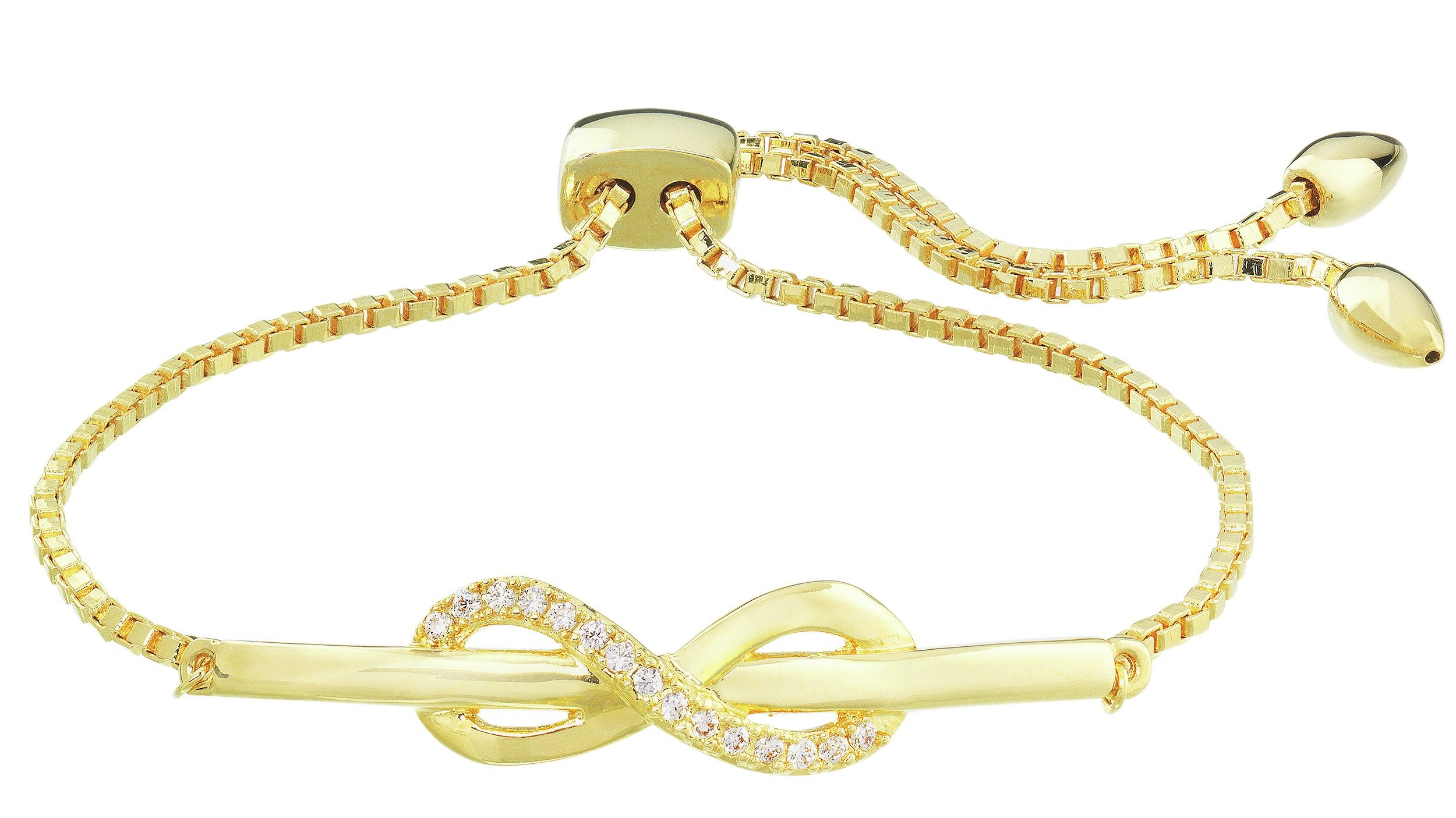 Image of Abbey Clancy Gold Colour CZ Infinity Friendship Bracelet