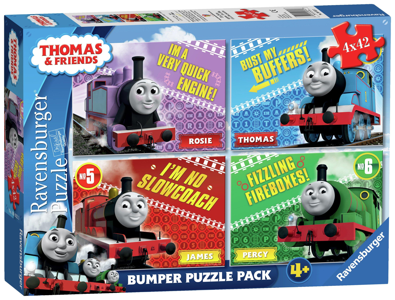 Image of Ravensburger Thomas & Friends Puzzles - 4 x 42 Piece.