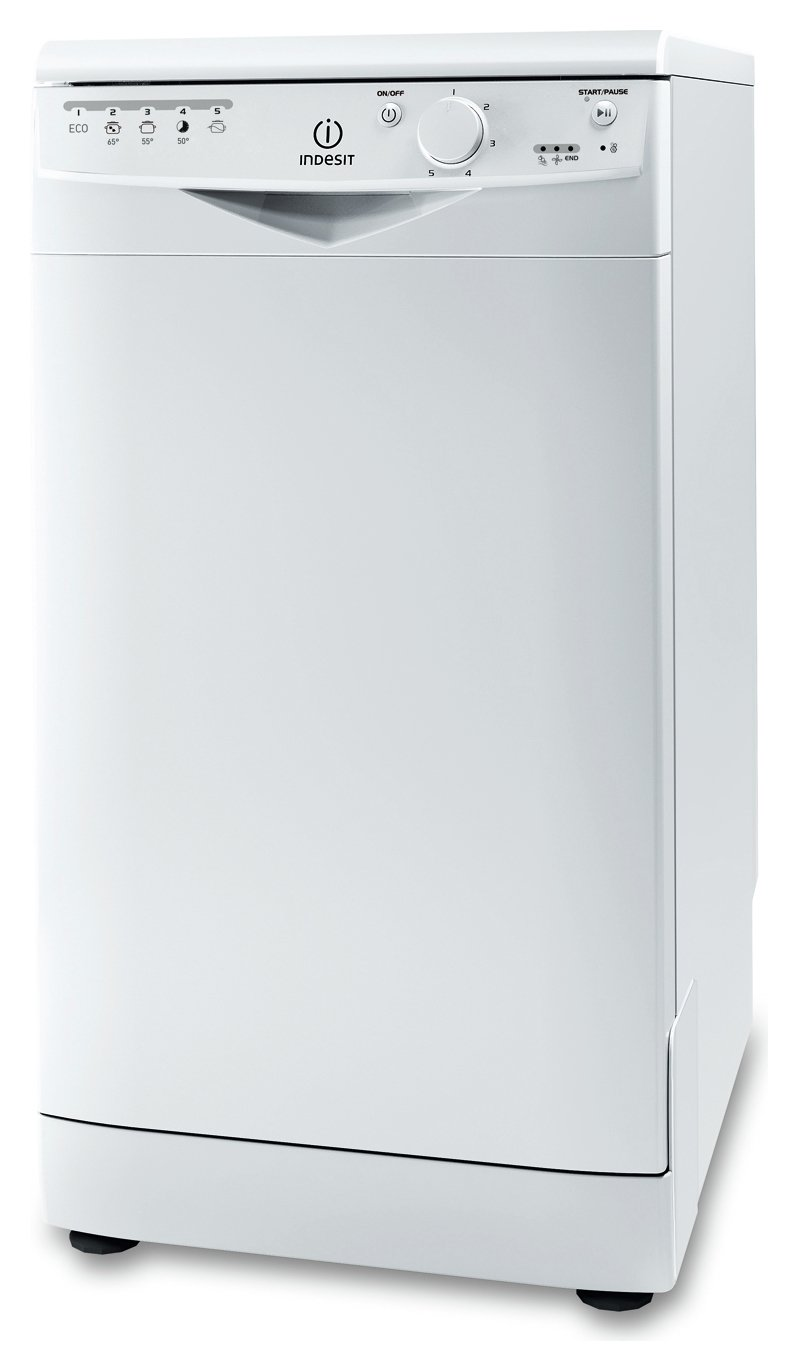 Indesit DSR15B1UK Slimline Dishwasher - White