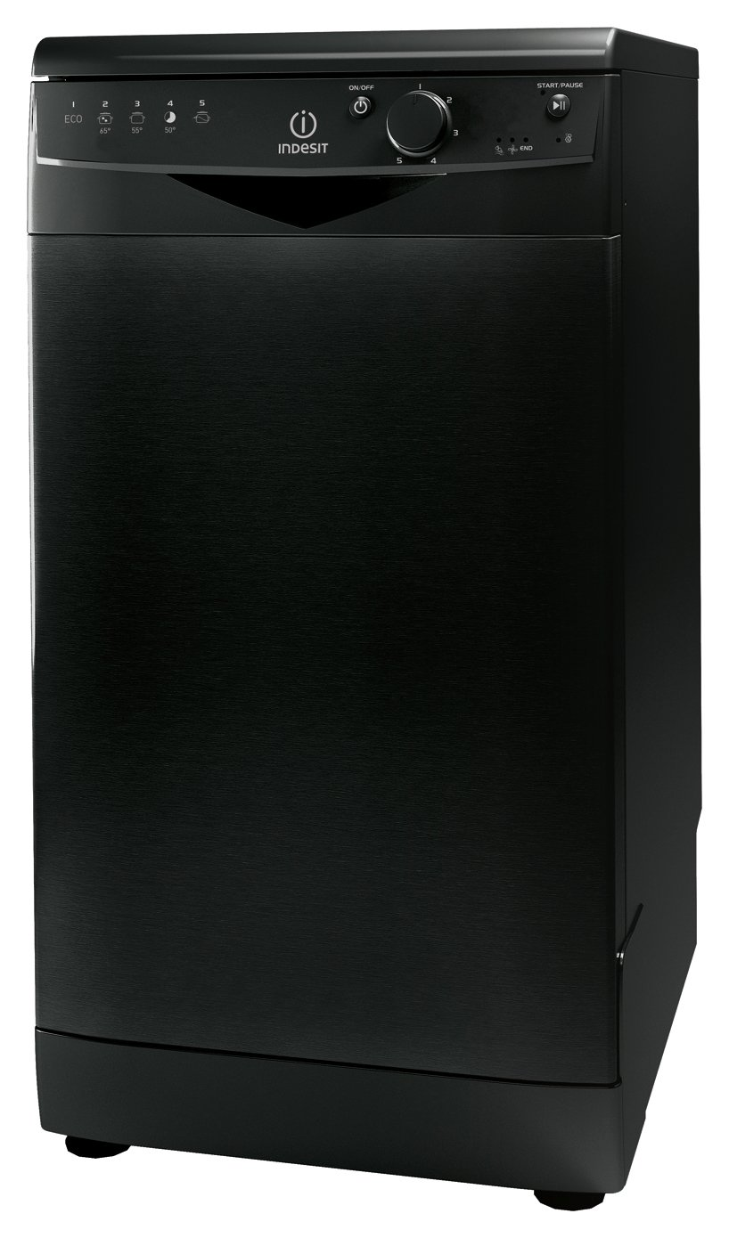 Indesit DSR15B1K Slimline Dishwasher - Black