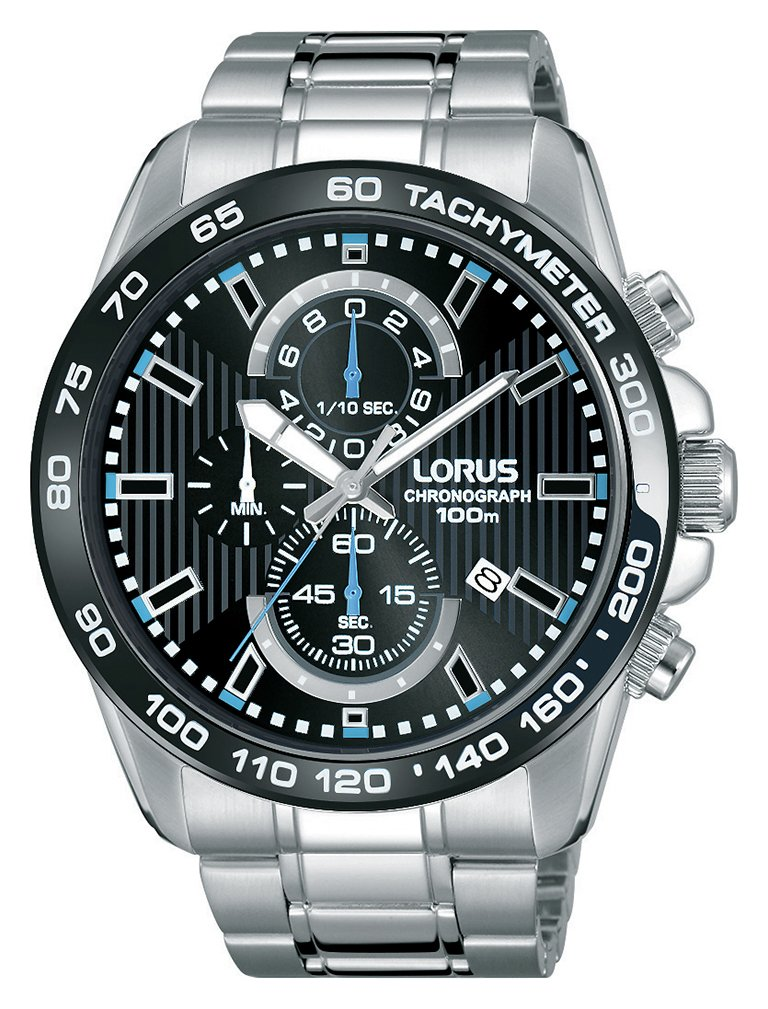 Lorus Men's Silver Stainless Steel Bracelet Bezel Watch