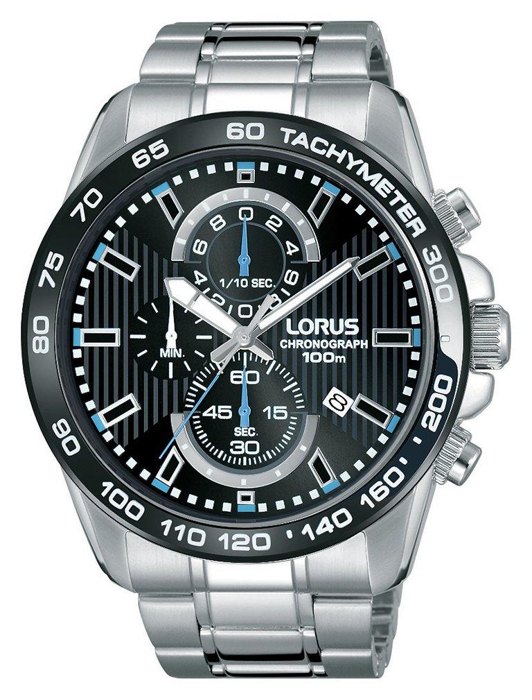 Lorus Men's Silver Stainless Steel Bracelet Bezel Watch