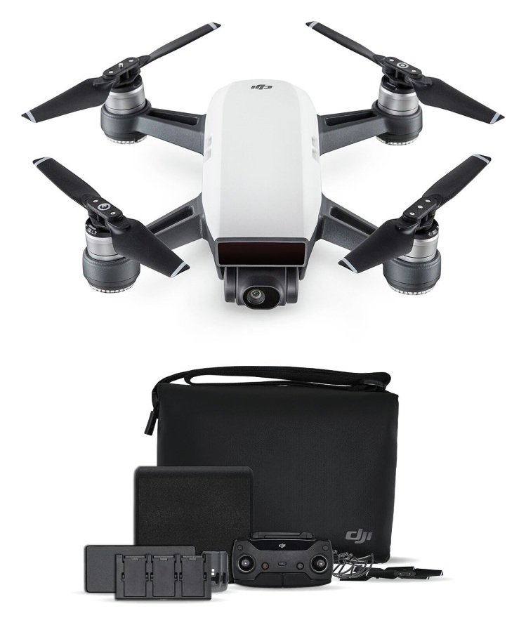 DJI Spark Drone Fly More Combo - Alpine White