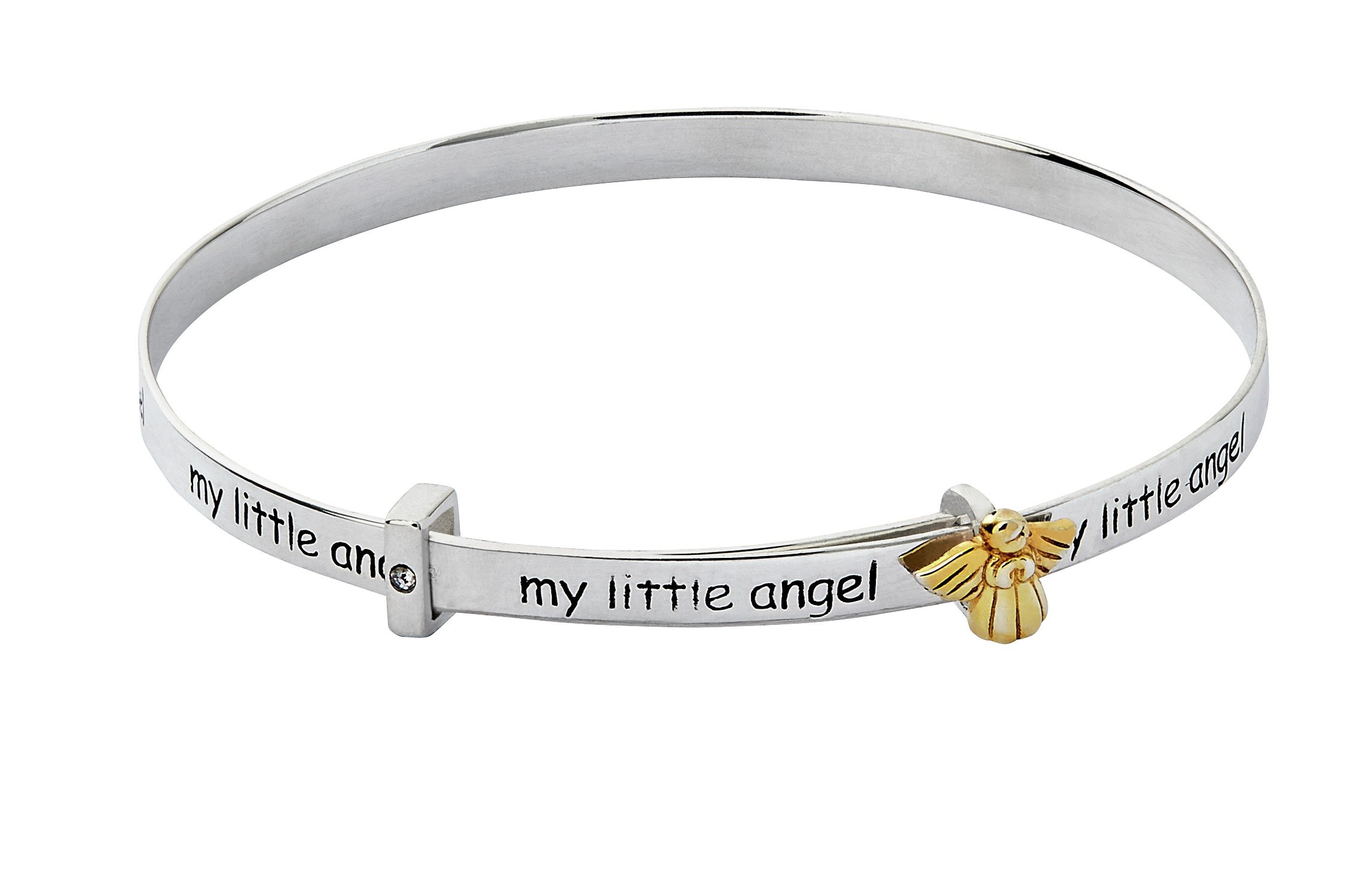 Revere Kid's Sterling Silver 'My Little Angel' Bangle