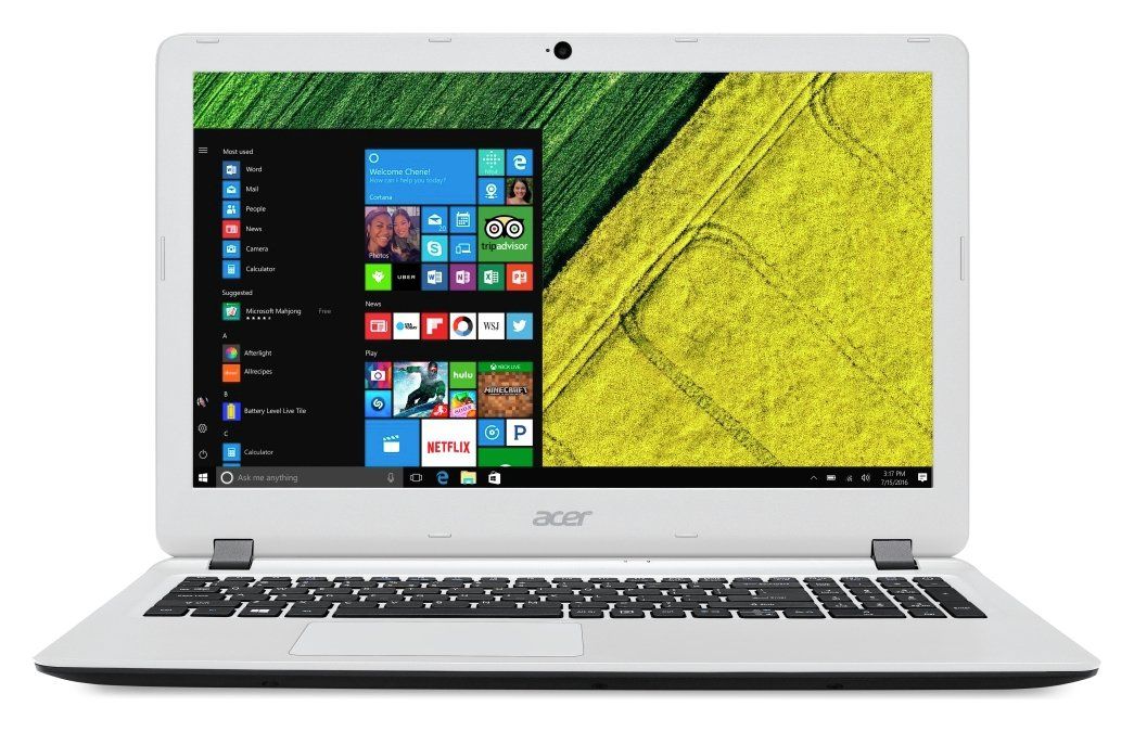 Image of Acer Aspire ES 15.6 Inch AMD E1 4GB 500GB Laptop - White
