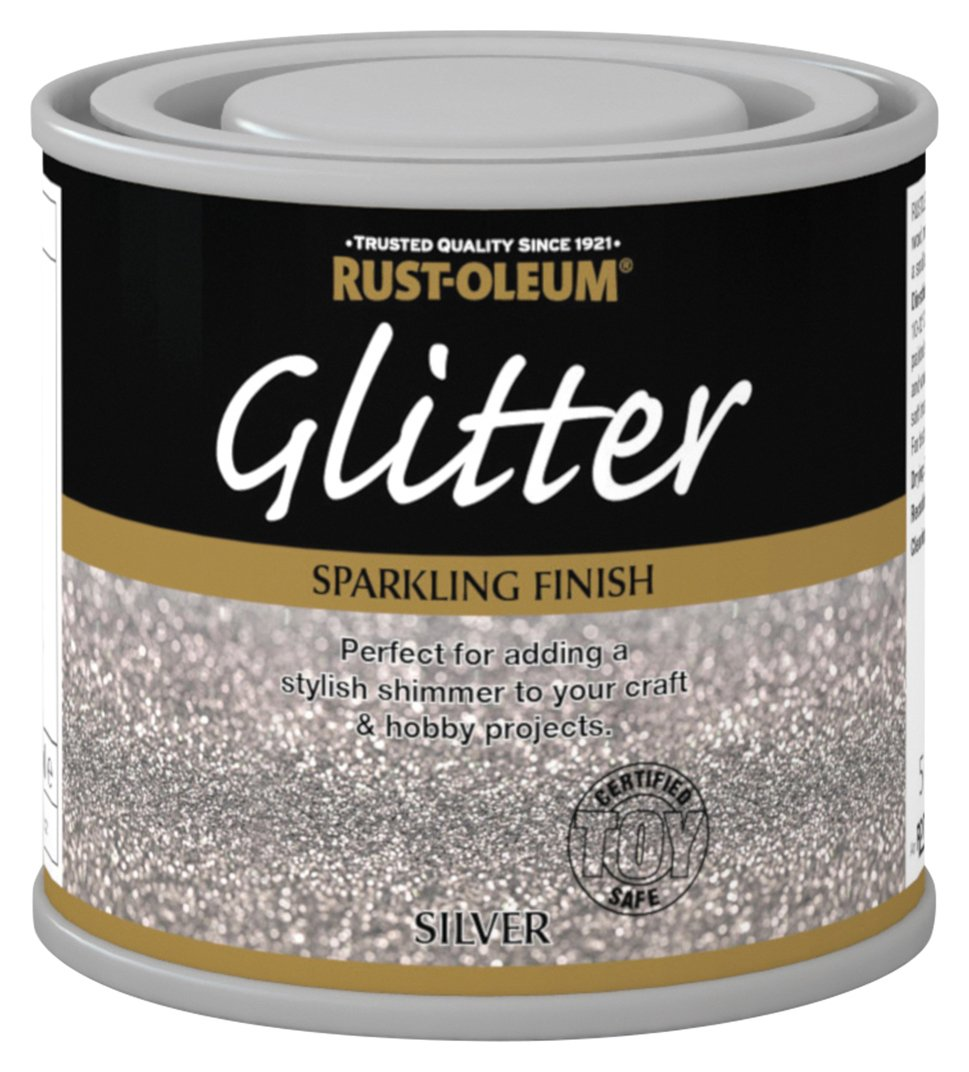Sale on rust oleum glitter special effect paint 125ml for How to make silver paint
