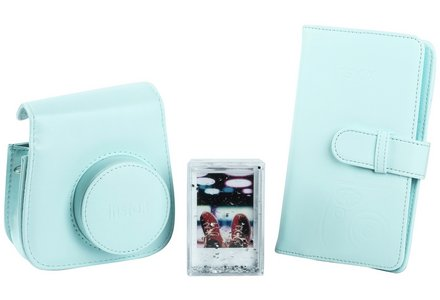 Cut out image of the Instax Mini 9 accessory kit - Ice Blue
