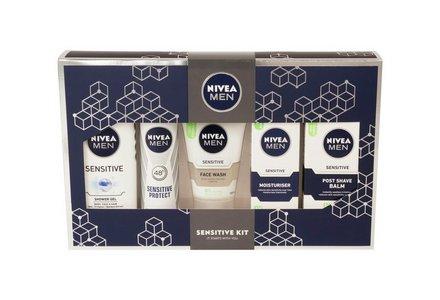 Nivea Men's Sensitive Regime Kit.