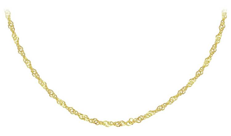 Revere 9ct Gold Twisted Curb 18 Inch Necklace