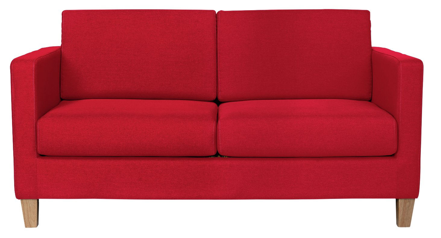 Argos Home Rosie 2 Seater Fabric Sofa Bed - Red