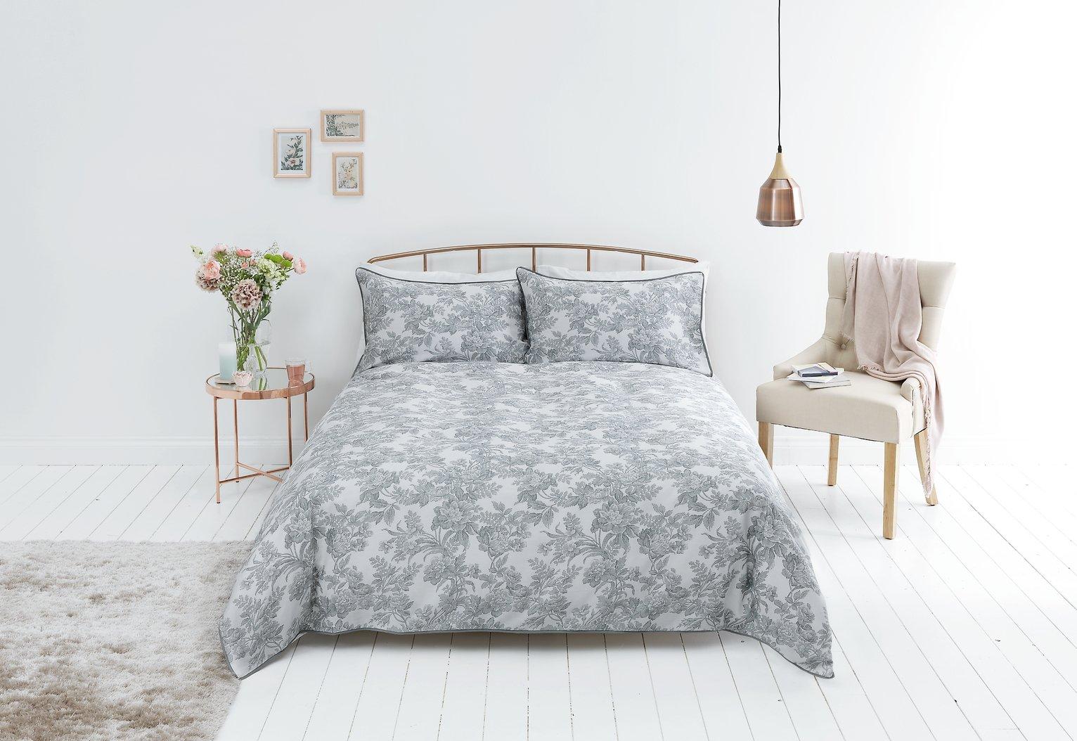 Sainsbury's Home Parisan Maison Grey Bedding Set - Double