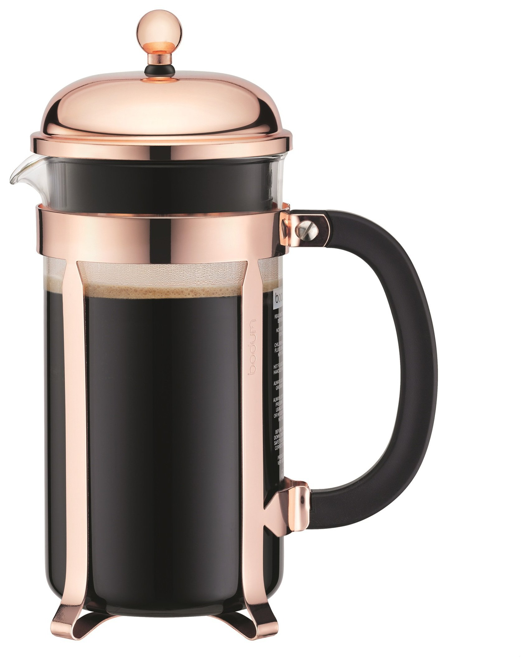 Image of Bodum Chambord 8 Cup Coffee Maker - Copper