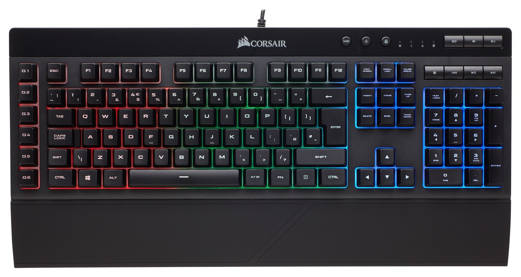 Image of Corsair K55 RGB Gaming Keyboard