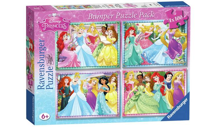 Ravensburger Disney Princess 100 Piece Puzzle - 4 Pack