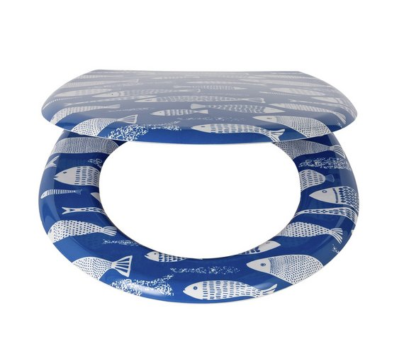 Buy HOME Fish Slow Close Toilet Seat At Argoscouk Your Online - Blue soft close toilet seat
